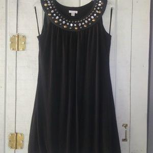 👗 💎Enfocus Studio Black Dress w/ bling 💎👗